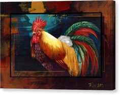 Portrait Of A Rooster Canvas Print by Dragan Petrovic Pavle