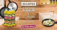 ¡Gana un LOTE de SARTENES y ACEITE con LA MASÍA y TAURUS! Coconut Water, Jr, Space, Drinks, Instagram, Ideas, Pageants, Skillets, Bottles