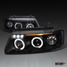 Cool Awesome Fit 1997-2000 VW Passat B5 1.6 1.8 LED Black Dual Halo Projector Headlights Pair 2017-2018