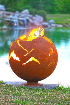 Mountain Sunset - Fire Pit Gallery – Unique Custom Steel Outdoor Fire Pits