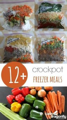 12+ Crockpot Freezer Meals with printable recipes! by katee