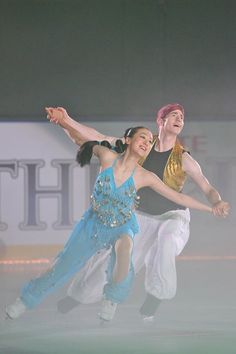 Mao Asada and Jeffery Buttle