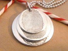 fingerprint jewellery triple descending by LittleImpJewellery