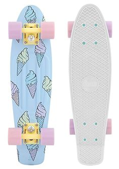 Skateboard Deck Art, Penny Skateboard, Skateboard Design, Skateboard Girl, Surfboard Art, Penny Boards, Complete Skateboards, Cool Skateboards, Pastel Penny Board