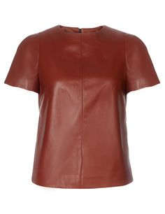Dark Red Leather Top | Narciso Rodriguez | Avenue32