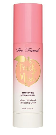 Too Faced Peaches and Cream Collection Mattifying Setting Spray Fall 2017