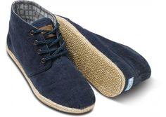 Navy Wisett Men's Desert Boots | TOMS.com ($50-100) - Svpply