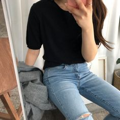 Imagem de asian fashion, aesthetic fashion, and withyoon Basic Outfits, Teen Fashion Outfits, Korean Outfits, Cute Casual Outfits, Simple Outfits, Grunge Outfits, Korean Fashion Trends, Asian Fashion, Look Fashion