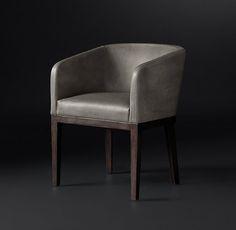 Morgan Barrelback Leather Armchair