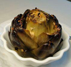 Baked artichoke! Delish!