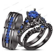 gothic wedding ring sets Google Search Jewellery Pinterest