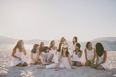 A Beach Bachelorette Party!... It be awesome to take a photo like this