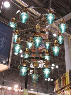 Electrical insulators to chandelier