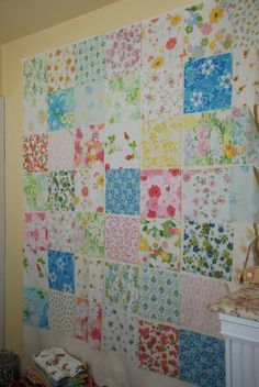 another sheet quilt - must search for vintage sheets!