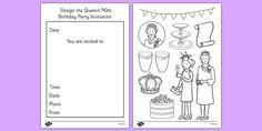 Design the Queen's Birthday Party Invitation