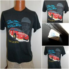 cb11caad5 Vintage 1990 s Bill Elliott Nascar Racing The Legend Adult T Shirt Size XL