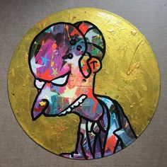 Doh! By Barrie J Davies 2019 Brighton England, England Uk, University Of Wales, Fine Arts Degree, Human Condition, Art Paintings, Vinyl Records, Psychedelic, Pop Art