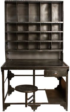 ♕ this vintage postal sorting desk would make the most incredible crafting space <3<3<3