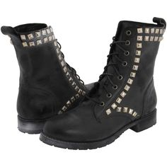 Frye Rogan Stud Lace Tall Women's Boots, Black ($213) ❤ liked on Polyvore