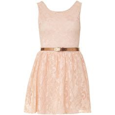 Lily Salmon Pink Belted Lace Skater Dress (€19) ❤ liked on Polyvore featuring dresses, vestidos, robe, short dresses, lacy dress, lace skater dress, lily dress, pink mini dress and belted dress