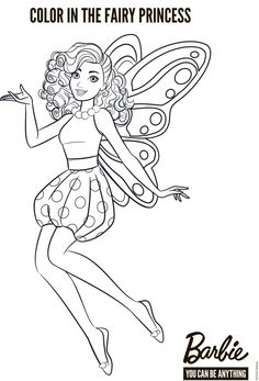 Decorate Barbie fairy Barbie Coloring Pages, Mermaid Coloring Pages, Pattern Coloring Pages, Free Coloring Pages, Coloring For Kids, Coloring Books, Barbie Colouring, Adult Coloring, Barbie Fairy