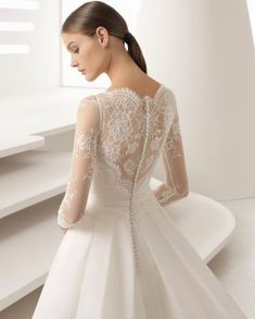 One of our gorgeous Rosa Clara gowns. the sleeve's make this one perfect for any fall/winter wedding! Wedding Dress Trends, Black Wedding Dresses, Wedding Dresses Plus Size, Princess Wedding Dresses, Elegant Wedding Dress, Designer Wedding Dresses, Bridal Dresses, Bridesmaid Dresses, Wedding Gowns