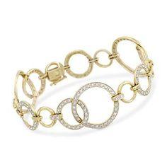 .95 ct. t.w. Diamond Bracelet In 14kt Yellow Gold