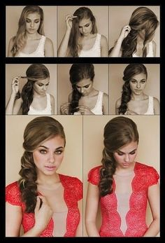 Romantic one sided hair style