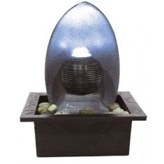 The Perano Water Feature will look wonderful in your home, especially when it is illuminated during the evenings and at night.