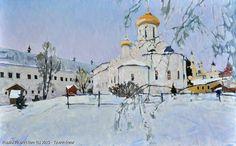 http://www.russianfineart.com/catalog/prod?productid=25378 Zvenigorod oil canvas  Russian Master Tyutrin Peter