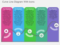 Curve Line Diagram With Icons Powerpoint Template - PowerPoint Templates