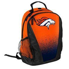 Denver Broncos High End Diagonal Zipper Drawstring Backpack