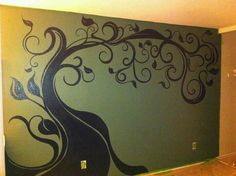 Tree painted on the wall of my bedroom!