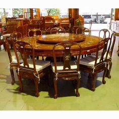 Nice Round Table With Lazy Susan