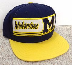 13a29b9c788 New ADIDAS MICHIGAN WOLVERINES SNAPBACK HAT Navy-Blue Yellow Flat-Bill  Men Women  adidas  MichiganWolverines