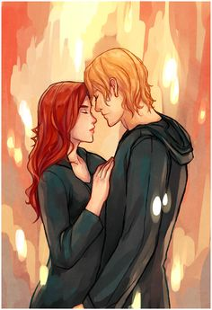 Gorgeous drawing from walkingnorth ... clarissa 'clary' fray, jace herondale, the mortal instruments