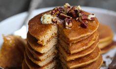 The Ultimate Fall Breakfast: Sweet Potato Spice Protein Pancakes  Laura Lea Goldberg LL Balanced