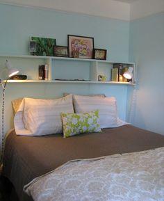 Shelves + wall color