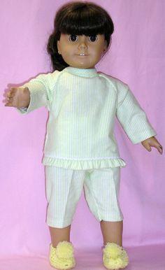 American Girl capri pajamas/flannel fits by NanaJerrisCreations, $15.00