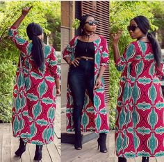 #africanfashion #africanprints African Print Fashion, Ethnic Fashion, Fashion Prints, Ankara Fashion, African Wear, African Dress, African Outfits, Aso Ebi Styles, Ankara Styles