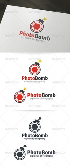 Photo Bomb Logo Template