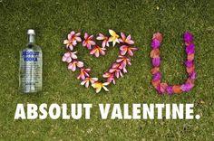 Walentynki, reklama walentynkowa, Absolut