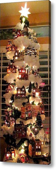 Christmas Tree Canvas, Creative Christmas Trees, Christmas Tree Themes, Christmas Star, Christmas Presents, Vintage Christmas, White Christmas, Christmas Mantles, Christmas Print