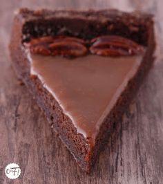 Blondie Brownies, Brownie Cookies, Brownie Bar, Fondant Chocolat Caramel, Sweet Recipes, Cake Recipes, Cake & Co, Sweets Cake, Food Cakes