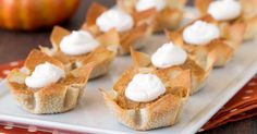 Mini Pumpkin Pies Recipe A fun way enjoy this holiday favorite while keeping portion sizes in check!