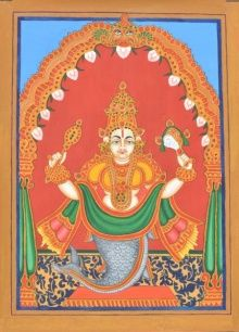 Matsya Avatara traditional art by Radhika Ulluru | ArtZolo.com