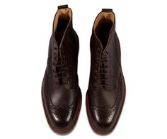 alfred sargent hannover brouge boot in rustic walnut
