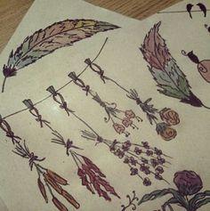 #flowers #watercolor #çiçek #suluboya #hediyepaketi #papercraft