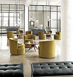 Otis Swivel Chair - - Modern Living Room Furniture - Room & Board Modern Office Design, Office Interior Design, Office Interiors, Home Interior, Office Designs, Modern Home Bar Designs, Modern Lounge, Workplace Design, Interior Ideas