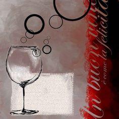 Red Wine II, Set of 2, Multicolor